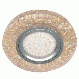 Более Точечный светильник Feron 8585-2 MR16 мерцающий желтый серебро с led подсветкой 3W 4000K