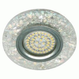 Более Точечный светильник Feron 8585-2 MR16 мерцающий белый серебро с led подсветкой 3W 4000K