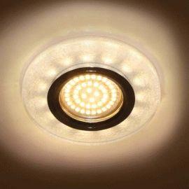 Точечный светильник Feron 8989-2 MR16 белый серебро led подсветкой 3W 4000K