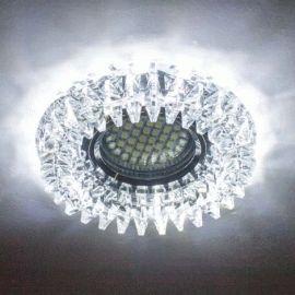 CD2540 MR16 прозрачный с led подсветкой SMD3014 12leds (6500К) Max 50W