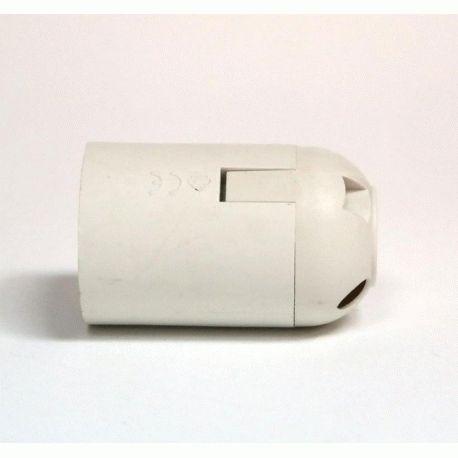 Патрон Е27 пластиковый / без резьбы / белый