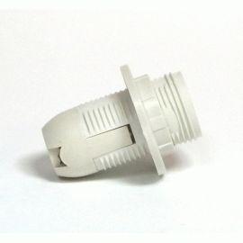 Более Патрон Е14 пластиковый / резьба+кольцо / белый