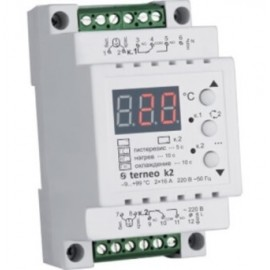 Двухканальный терморегулятор на DIN-рейку Terneo k2