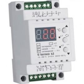 Более Двухканальный терморегулятор на DIN-рейку Terneo k2