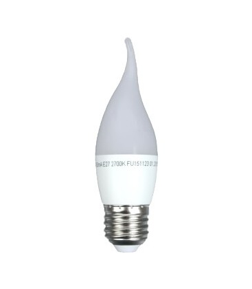 Светодиодная лампа Feron LB-737 6W E27 свеча на ветру