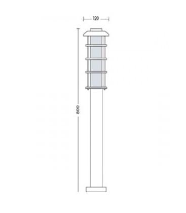 Садово-парковый светильник Horoz HL 203 Е27