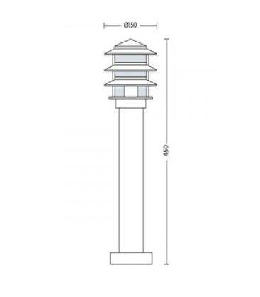 Садово-парковый светильник Horoz HL 208 Е27