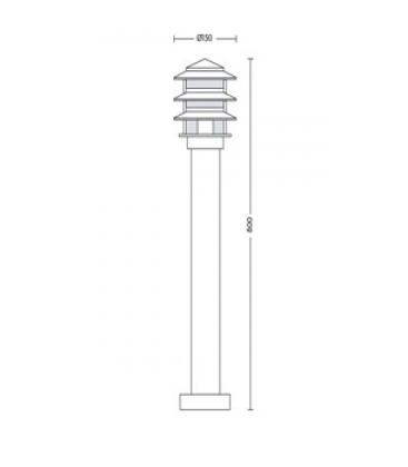 Садово-парковый светильник Horoz Kayin-4 Е27