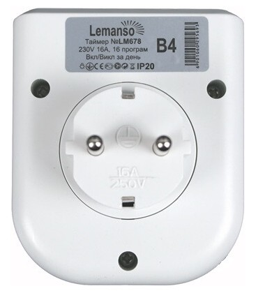 Розетка-таймер электронная недельная Lemanso TM 21 (LM621)