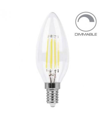 Светодиодная лампа Feron LB-68 dimm 4W E14 C37 Эдисона