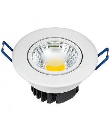Светильник встраиваемый 3W HL 698LE белый поворотный