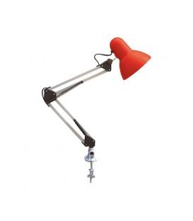 Настольная лампа на струбцине Е27 белого цвета