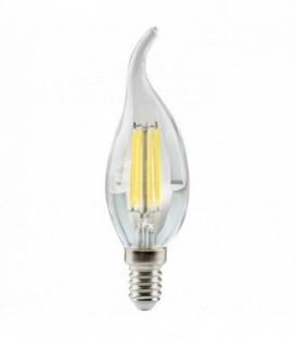 Лампа светодиодная филам. ilumia C37 E14, 4Вт, 4000К свеча