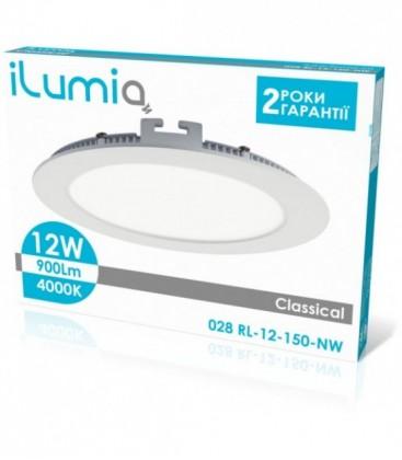 Светильник LED круглый врезной ilumia 12Вт, 150мм, 4000К