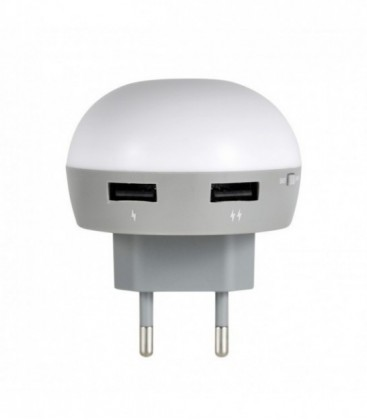 Ночник-зарядка ilumia EOS Green 2*USB