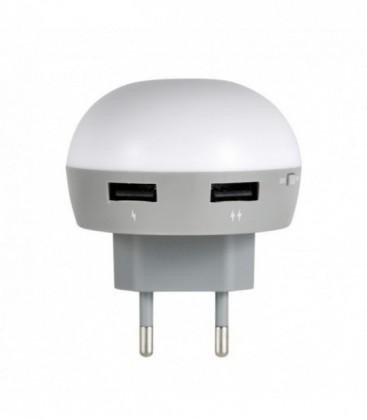 Ночник-зарядка ilumia EOS Blue 2*USB