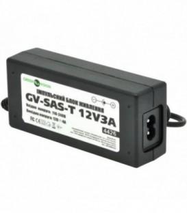 Импульсный адаптер питания Green Vision GV-SAS-T 12V3A (36W) с вилкой