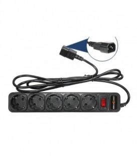 Сетевой фильтр к ИБП LP-X5 , 5 розеток, цвет-черный, 5,0 m