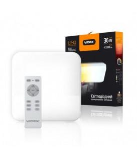 LED светильник функциональный квадратный VIDEX 36W 2800-6000K 220V