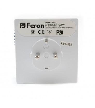 Розетка с таймером механическая суточная Feron TM32