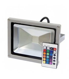 Светодиодный прожектор RGB 20W Lemanso LMP-9-21 (цветной)+пульт