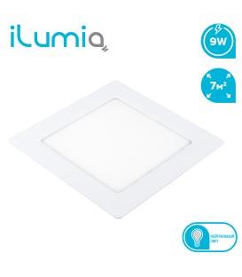 Светильник LED квадратный врезной ilumia 9Вт, 130мм, 4000К