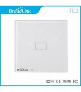 Умный выключатель 1 сенсор, Broadlink, белый, стекло (TC2-1)
