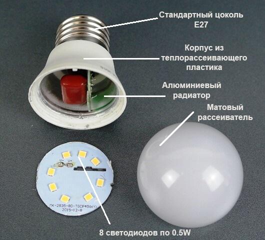 светодиодная лампа g45