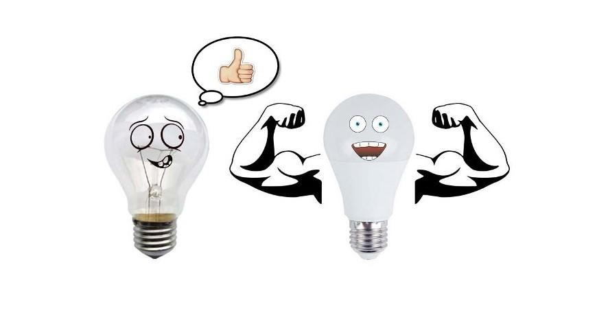 Мощность светодиодных ламп и ламп накаливания