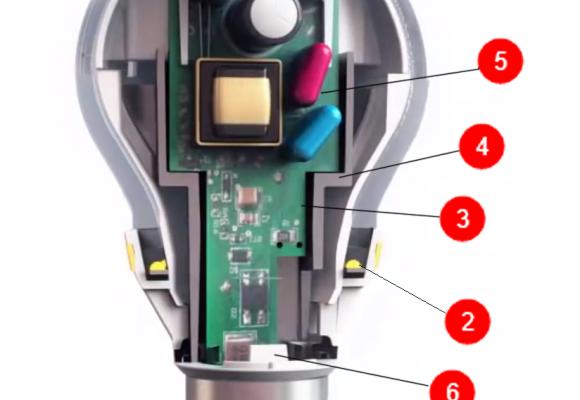 Устройство светодиодной лампы (схема)