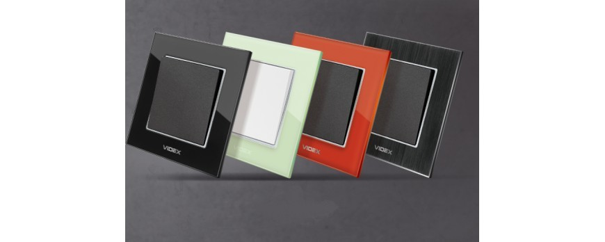 Новая серия розеток и выключателей Videx Binera