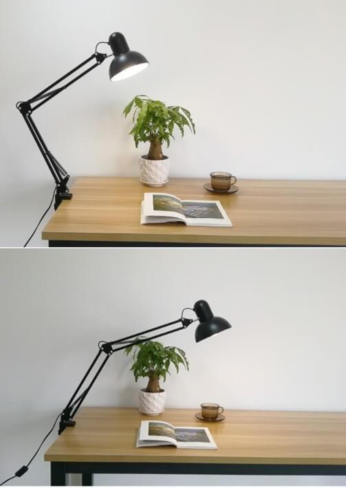Черная настольная лампа